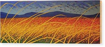 Homage To Van Gogh Wood Print by John  Nolan