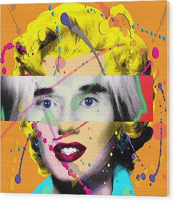 Homage To Warhol Wood Print by Gary Grayson