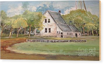 Home Again Wood Print by Linda Shackelford