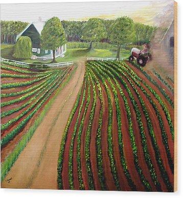 Home Again Wood Print by Tina Swindell