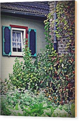 Home And Garden Schierstein 8   Wood Print by Sarah Loft