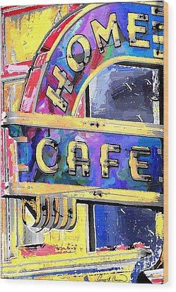Home Cafe Wood Print by Gary Carson