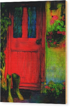 Home Wood Print by FeatherStone Studio Julie A Miller