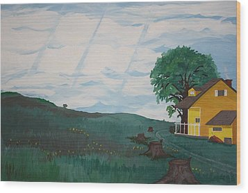 Home Wood Print by Frank Parrish