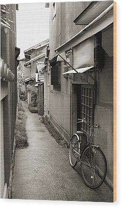 Home In Kyoto Wood Print by Jessica Rose