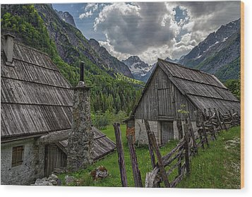 Wood Print featuring the photograph Home In The Slovenian Alps #2 by Stuart Litoff