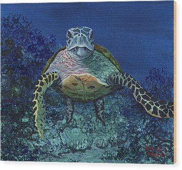 Wood Print featuring the painting Home Of The Honu by Darice Machel McGuire