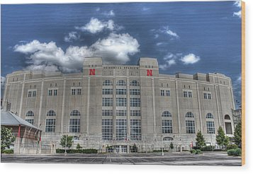 Home Of The Huskers  Wood Print