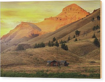 Home On The Range In Antelope Oregon Wood Print by David Gn