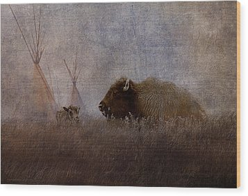 Home On The Range Wood Print by Ron Jones