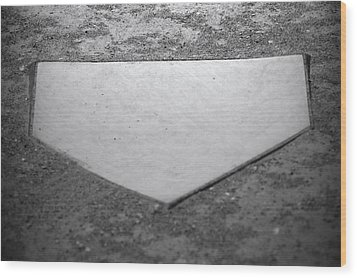 Home Plate Wood Print by Shawn Wood