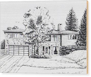 Home Portrait Wood Print