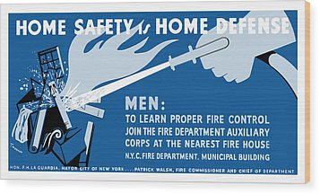 Wood Print featuring the painting Home Safety Is Home Defense by War Is Hell Store