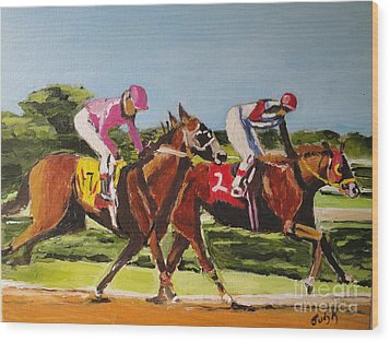 Wood Print featuring the painting Home Stretch by Judy Kay