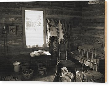 Wood Print featuring the photograph Home Sweet Home Bedroom by Joanne Coyle