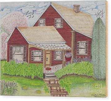Home-sweet-home Wood Print
