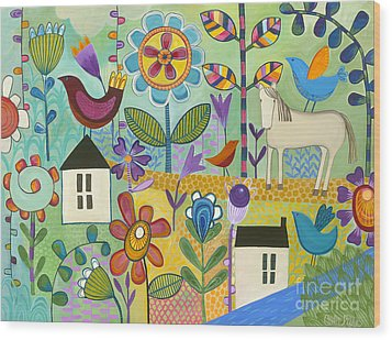 Wood Print featuring the painting Home Sweet Home by Carla Bank