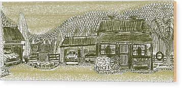 Home Sweet Home Wood Print by Diana-Lee Saville