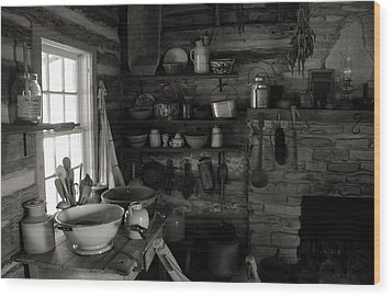 Wood Print featuring the photograph Home Sweet Home Kitchen by Joanne Coyle
