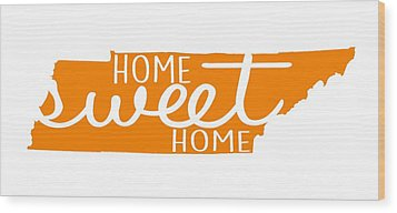 Wood Print featuring the digital art Home Sweet Home Tennessee by Heather Applegate