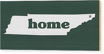 home TN on Green Wood Print by Heather Applegate