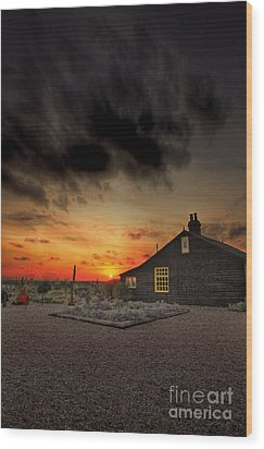 Home To Derek Jarman Wood Print by Lee-Anne Rafferty-Evans
