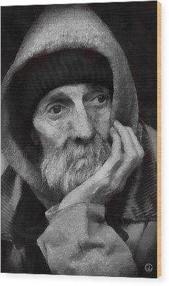 Wood Print featuring the digital art Homeless by Gun Legler