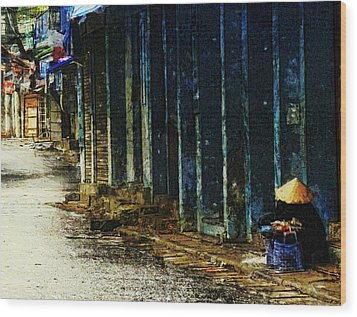 Wood Print featuring the digital art Homeless In Hanoi by Cameron Wood