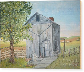 Homeplace - The Washhouse Wood Print by Judith Espinoza