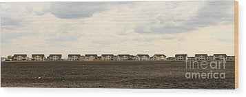 Wood Print featuring the photograph Homes On The Prairie by Steve Augustin