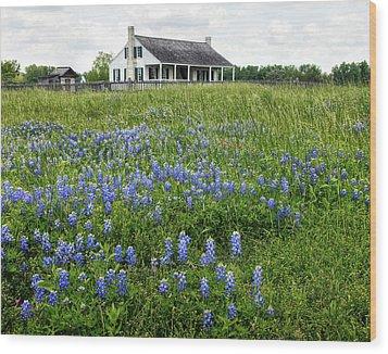Homestead In East Texas Wood Print