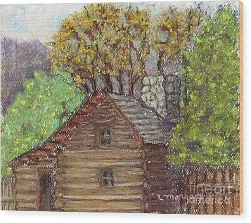 Homestead Wood Print by Laurie Morgan