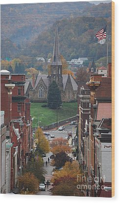 Wood Print featuring the photograph My Hometown Cumberland, Maryland by Eric Liller