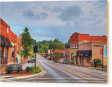 Hometown America Wood Print by Dale R Carlson