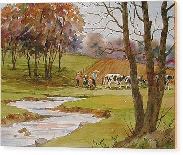Homeward Bound Wood Print by Faye Ziegler