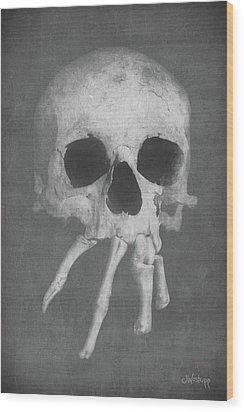 Homo Spidercus Wood Print by Joseph Westrupp