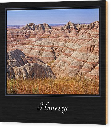 Wood Print featuring the photograph Honesty 1 by Mary Jo Allen