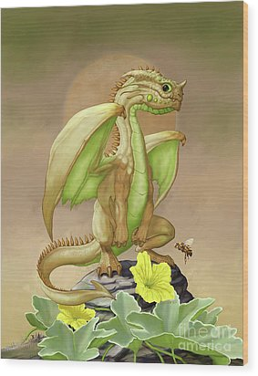 Honey Dew Dragon Wood Print by Stanley Morrison