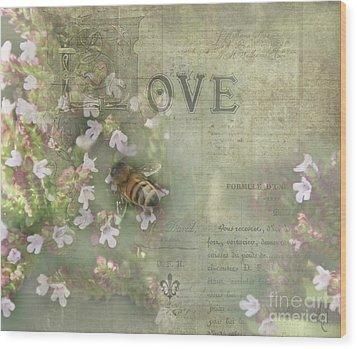 Honey Love Wood Print