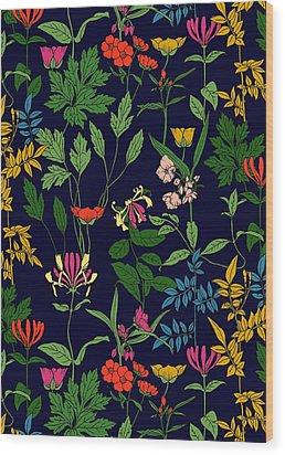 Honeysuckle Floral Wood Print