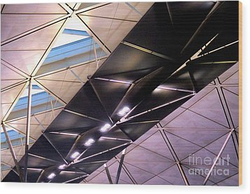 Wood Print featuring the photograph Hong Kong Airport by Randall Weidner