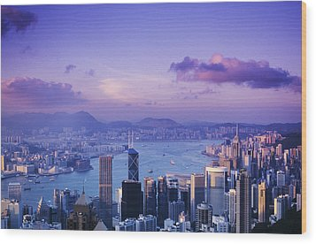 Hong Kong Harbor Wood Print by Gloria & Richard Maschmeyer - Printscapes