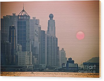 Hong Kong Island Wood Print by Ray Laskowitz - Printscapes
