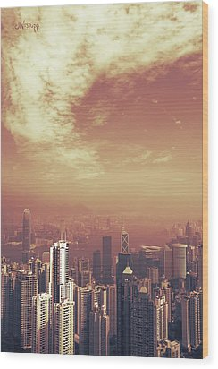 Wood Print featuring the photograph Hong Kong Portrait by Joseph Westrupp