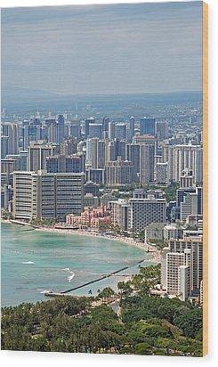 Honolulu Hawaii  Wood Print