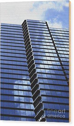 Honolulu Skyscraper Wood Print by Brandon Tabiolo - Printscapes