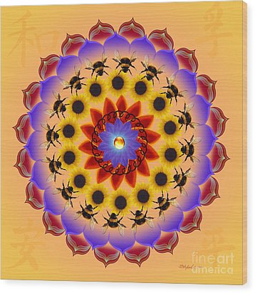 Honor The Bees Wood Print by Elizabeth Alexander