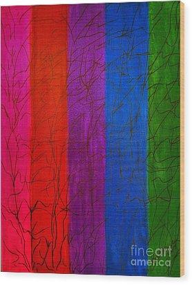Honor The Rainbow Wood Print