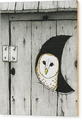 Hoo Tooted Wood Print by Don McMahon