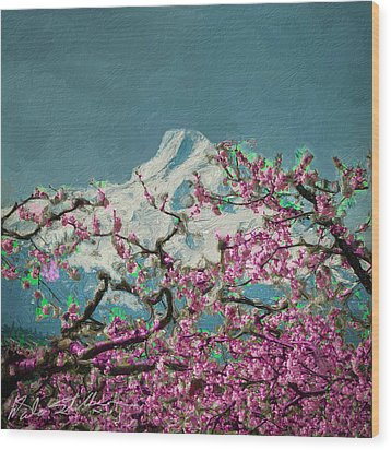 Wood Print featuring the digital art Hood Blossoms by Dale Stillman